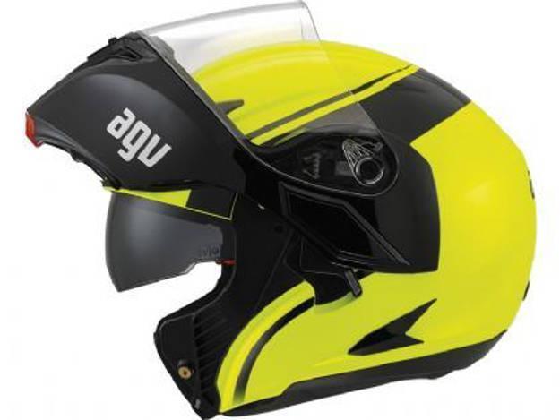 אופנוסנטר, ציוד לאופנועים ואביזרים לאופנוע - קסדת *עודפים* נפתחת AGV COMPACT צבע COURSE צהוב שחור