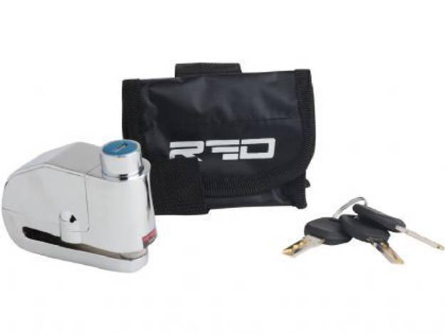 אופנוסנטר, ציוד לאופנועים ואביזרים לאופנוע - מנעול דיסק אזעקה לאופנוע RED