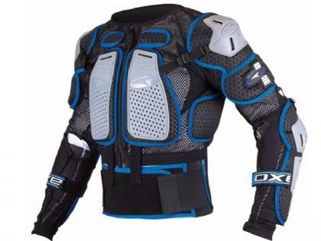 אופנוסנטר, ציוד לאופנועים ואביזרים לאופנוע - חליפת לחץ ילדים AXO AIR CAGE JR צבע שחור-כחול