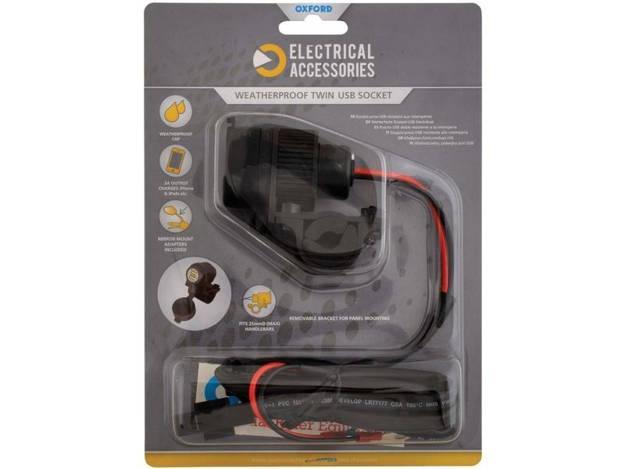 אופנוסנטר, ציוד לאופנועים ואביזרים לאופנוע - שקע USB כפול למצת