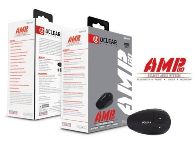 אופנוסנטר, ציוד לאופנועים ואביזרים לאופנוע - דיבורית לקסדה UCLEAR AMP GO היחידה ללא מקרופון קדמי