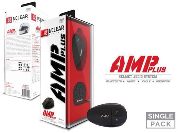 אופנוסנטר, ציוד לאופנועים ואביזרים לאופנוע - דיבורית  לקסדה UCLEAR AMP PLUS היחידה ללא מקרופון קדמי
