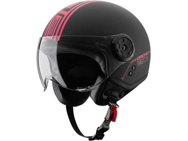 אופנוסנטר, ציוד לאופנועים ואביזרים לאופנוע - קסדת ORIGINE דגם NEON צבע שחור-ורוד