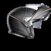אופנוסנטר, ציוד לאופנועים ואביזרים לאופנוע - קסדת נפתחת AGV דגם SPORTMODULAR PLK צבע TRICOLORE MATT CARBON/ITALY