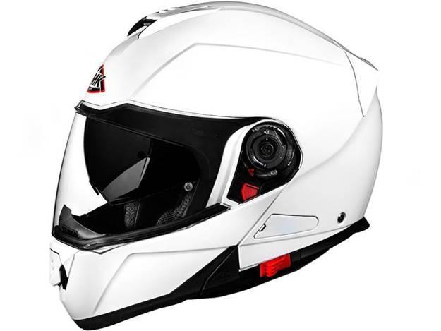 אופנוסנטר, ציוד לאופנועים ואביזרים לאופנוע - קסדה נפתחת SMK דגם GLIDE צבע לבן