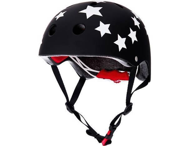 אופנוסנטר, ציוד לאופנועים ואביזרים לאופנוע - **מוצר החודש** קסדת אופניים RED דגם CITY PRO כוכבים שחור לבן