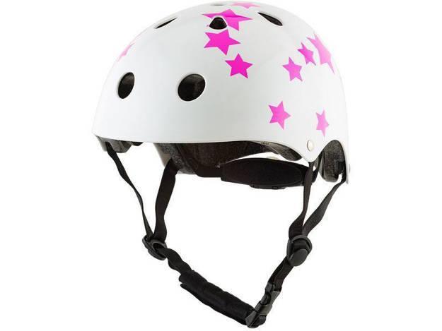 אופנוסנטר, ציוד לאופנועים ואביזרים לאופנוע - **מוצר החודש** קסדת אופניים RED כוכבים CITY PRO ורוד-לבן