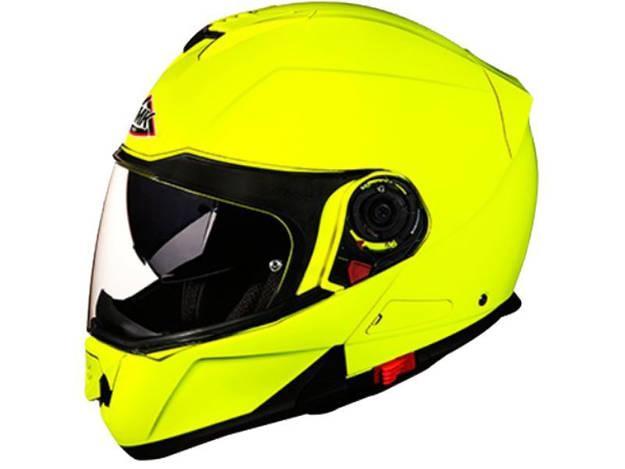 אופנוסנטר, ציוד לאופנועים ואביזרים לאופנוע - קסדה נפתחת SMK דגם GLIDE צבע צהוב