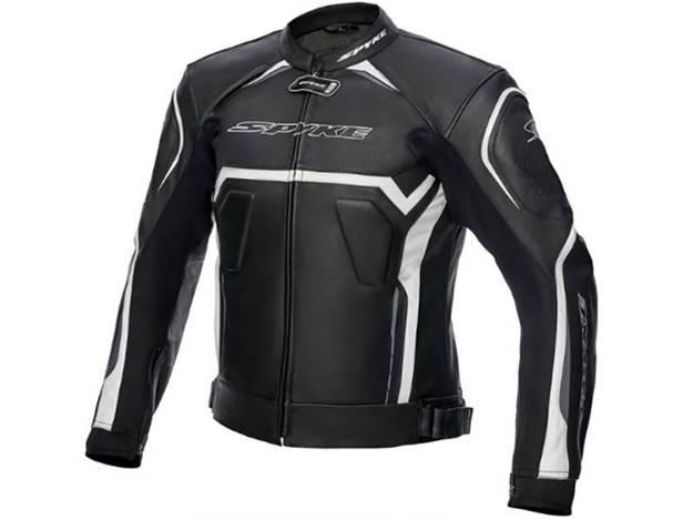 ���������, ���� ��������� �������� ������� - מעיל עור SPYKE דגם JEREZ EVO צבע לבן שחור