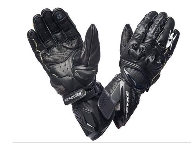 ���������, ���� ��������� �������� ������� - כפפות עור לאופנוע SPYKE דגם TECH PRO שחור לבן