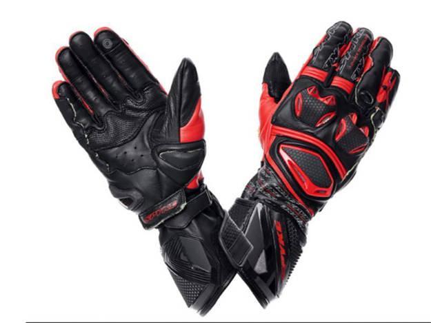 ���������, ���� ��������� �������� ������� - כפפות עור לאופנוע SPYKE דגם TECH PRO שחור אדום
