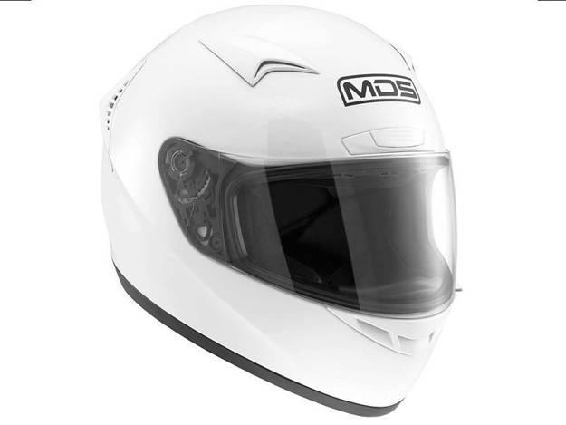 אופנוסנטר, ציוד לאופנועים ואביזרים לאופנוע - קסדה מלאה לאופנוע MDS שגם M13 לבן