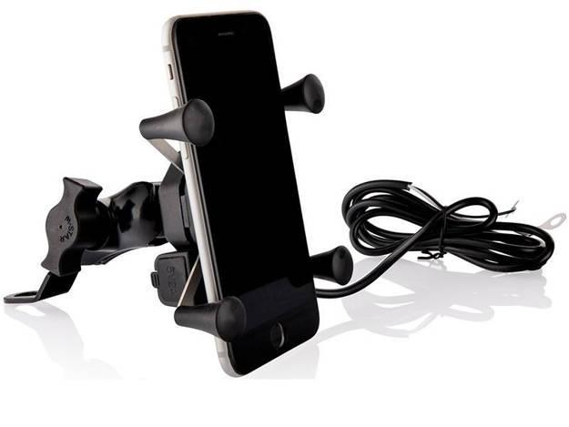 אופנוסנטר, ציוד לאופנועים ואביזרים לאופנוע - מתקן X עם שקע טעינה USB