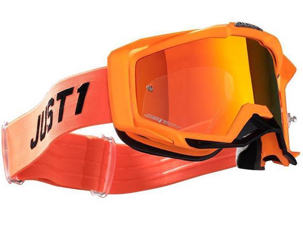 אופנוסנטר, ציוד לאופנועים ואביזרים לאופנוע - משקפי אבק JUST1 דגם IRIS צבע   TRACK ORANGE-GREY