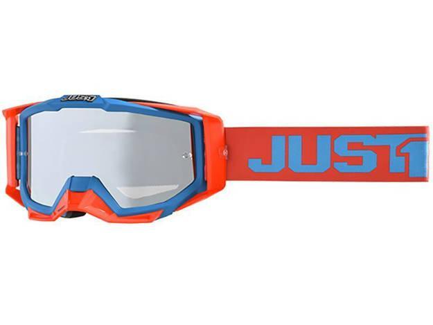 אופנוסנטר, ציוד לאופנועים ואביזרים לאופנוע - משקפי אבק JUST1 דגם IRIS צבע  TRACK RED-BLUE