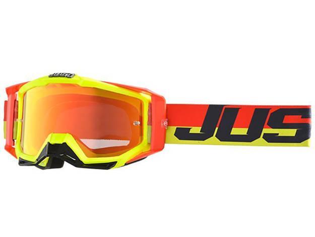 אופנוסנטר, ציוד לאופנועים ואביזרים לאופנוע - משקפי אבק JUST1 דגם IRIS צבע  TWIST FLUO