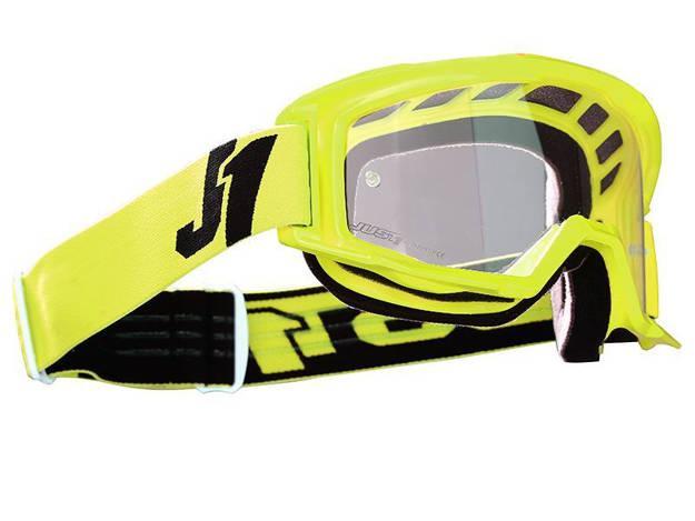 אופנוסנטר, ציוד לאופנועים ואביזרים לאופנוע - משקפי אבק JUST1 דגם VITRO צבע FLUO YELLOW
