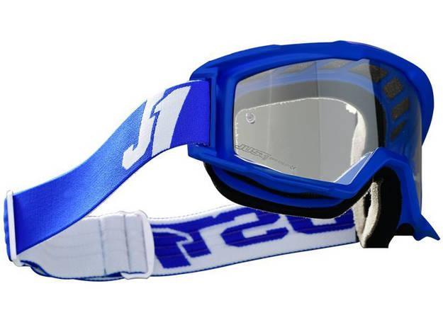 אופנוסנטר, ציוד לאופנועים ואביזרים לאופנוע - משקפי אבק JUST1 דגם VITRO צבע  BLUE-WHITE