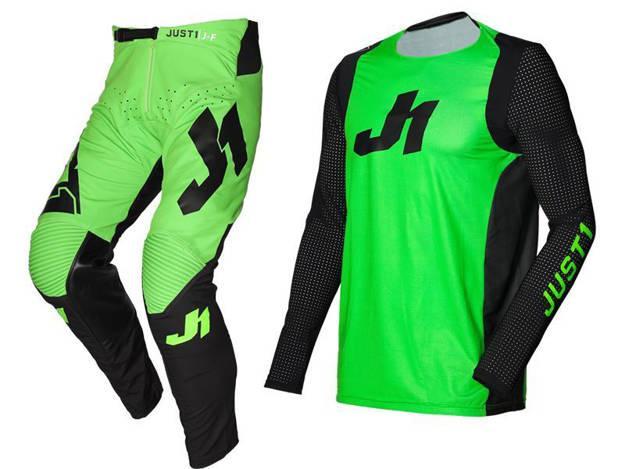 אופנוסנטר, ציוד לאופנועים ואביזרים לאופנוע - חליפת שטח ילדים JUST1 דגם J-FLEX JERSEY ירוק