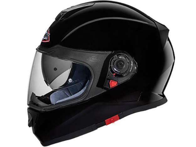 אופנוסנטר, ציוד לאופנועים ואביזרים לאופנוע - קסדה מלאה SMK דגם TWISTER צבע שחור מבריק