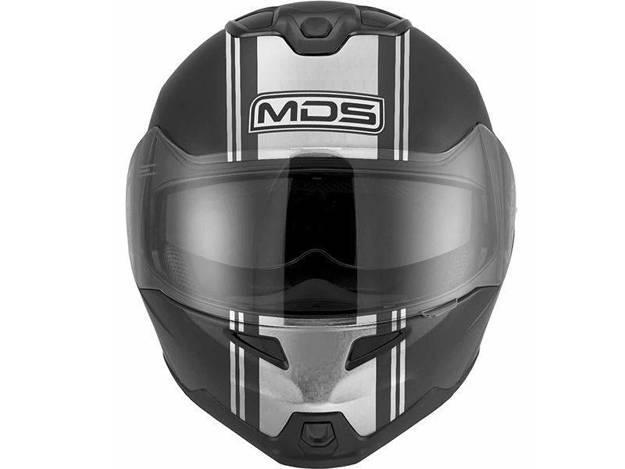 אופנוסנטר, ציוד לאופנועים ואביזרים לאופנוע - קסדה נפתחת MDS דגם MD200 צבע ADVANCE כסף/שח