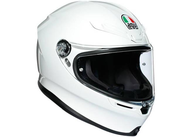 אופנוסנטר, ציוד לאופנועים ואביזרים לאופנוע - קסדה מלאה AGV דגם K-6 צבע לבן