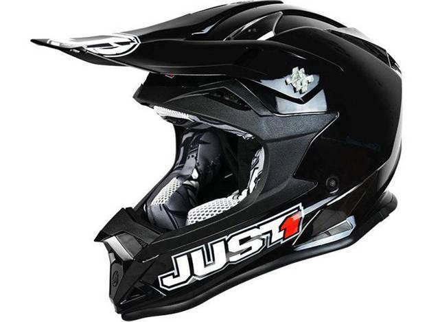 אופנוסנטר, ציוד לאופנועים ואביזרים לאופנוע - קסדת שטח לילדים JUST1 דגם J32 שחור מבריק