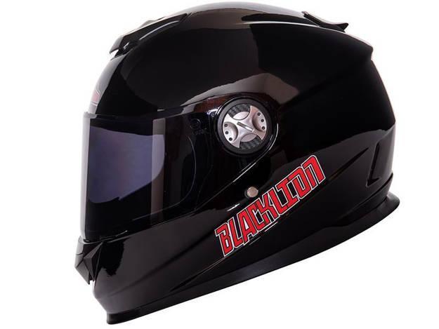 אופנוסנטר, ציוד לאופנועים ואביזרים לאופנוע - קסדה מלאה לאופנוע BLACKLION צבע שחור