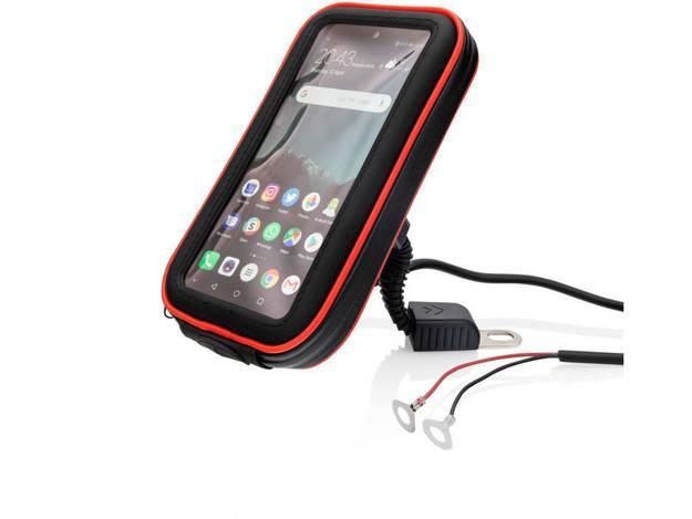 אופנוסנטר, ציוד לאופנועים ואביזרים לאופנוע - מתקן לטלפון מוגן מים עם טעינה RED