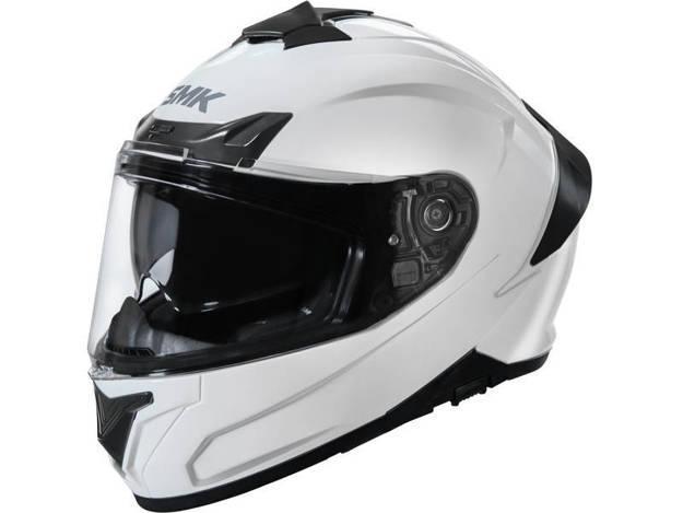 אופנוסנטר, ציוד לאופנועים ואביזרים לאופנוע - קסדה מלאה  SMK דגם TYPHOON צבע לבן